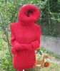 Roter Pullover mit langem Rollkragen2